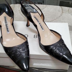 Manolo Blahnik size 381/2 black  heels